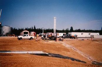 Production testing fresh water source wells installed at CCS Edson facility.