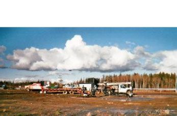 Production testing fresh water source well installed at CNRL Wabasca facility.