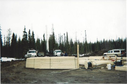 Domestic well site in Edson, Alberta.