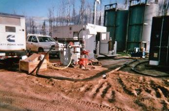 Production testing services for water source well project at Husky Sunrise field.